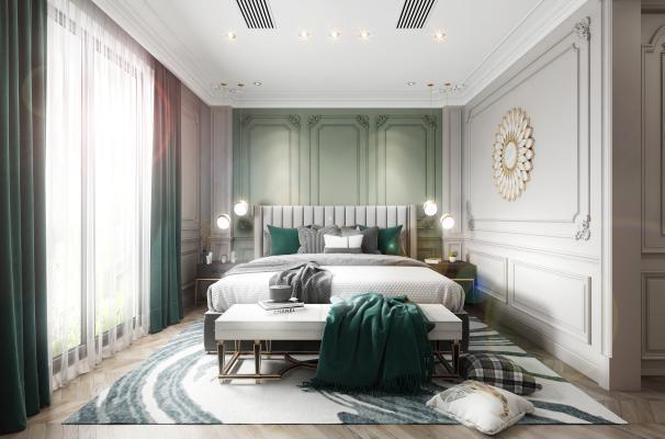 法式轻奢卧室 女儿房