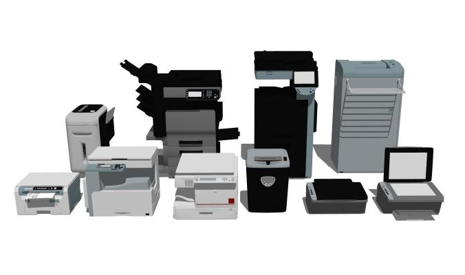 现代打印机 复印机组合