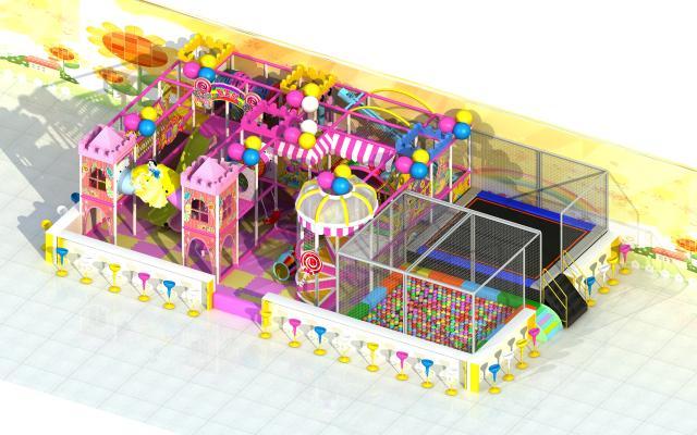 现代风格游乐园 淘气堡