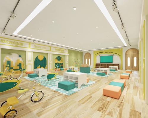 现代风格幼儿园 乐高室 课室
