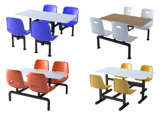 现代食堂桌椅