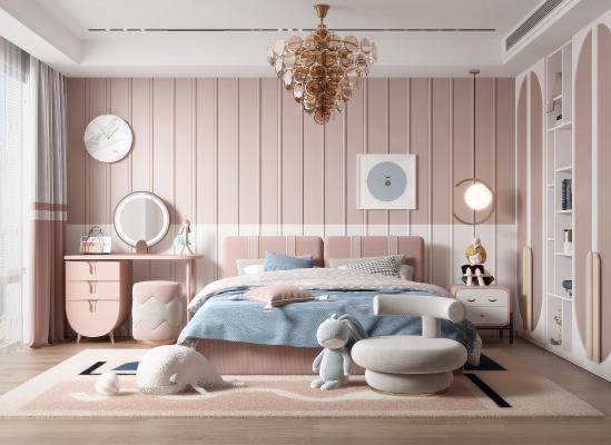 現代兒童房 兒童床 裝飾品