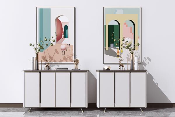 现代餐边柜 矮柜 装饰柜