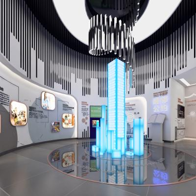 后現代橢圓形展廳 樓盤廣告展館