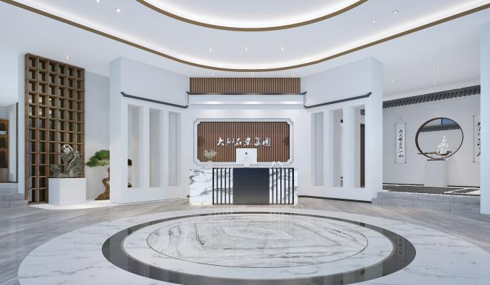 新中式展厅 接待台