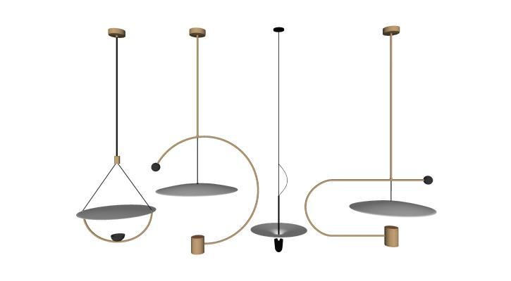 现代艺术吊灯组合