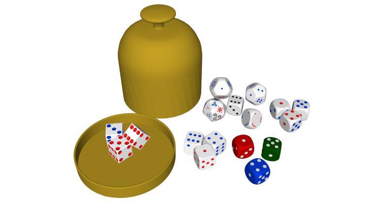 现代骰子 玩具 赌具