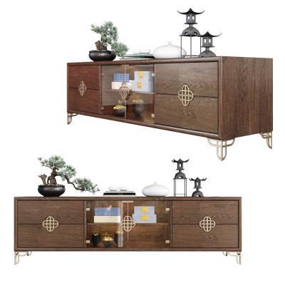 新中式電視柜 盆栽 裝飾品