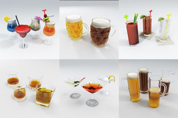 现代酒杯 饮料 酒水