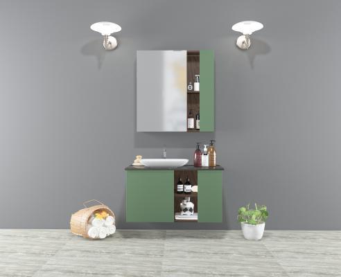现代卫浴柜 镜柜