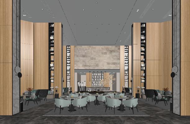 新中式酒店休息区