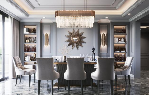 美式餐�d 餐桌椅