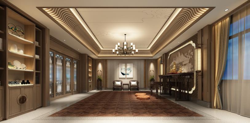 新中式佛厅