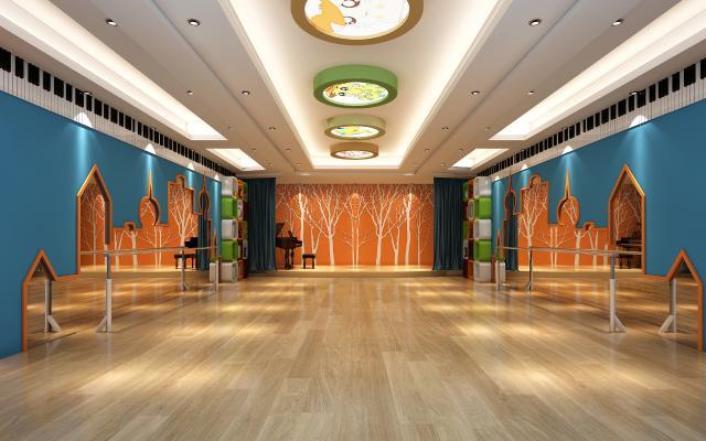 现代幼儿园舞蹈室