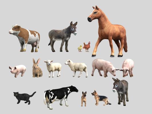 现代动物组合