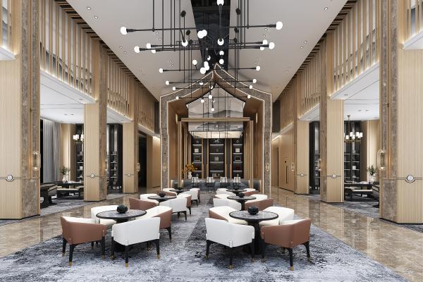 新中式售楼部大厅