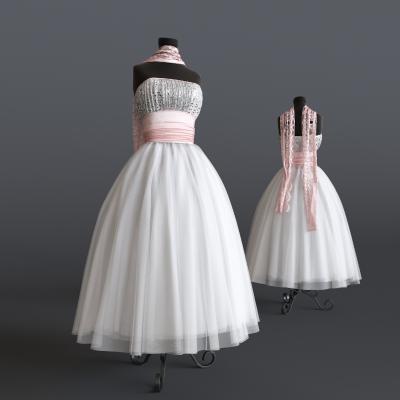 现代婚纱礼服模特