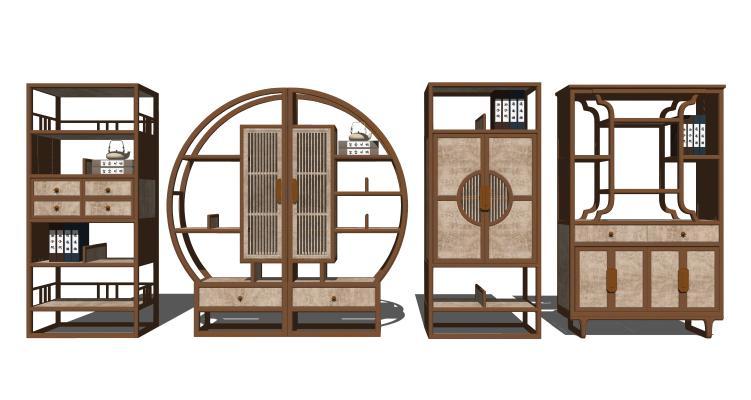 新中式实木装饰柜