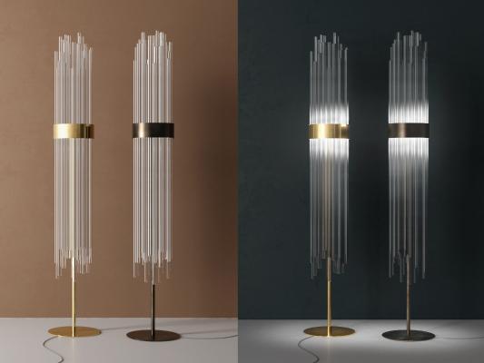 现代玻璃落地灯