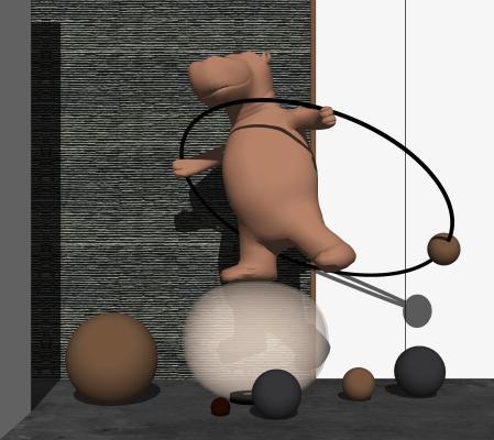 现代雕塑 跳舞河马雕塑
