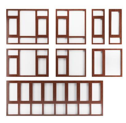 新中式铝合金窗户