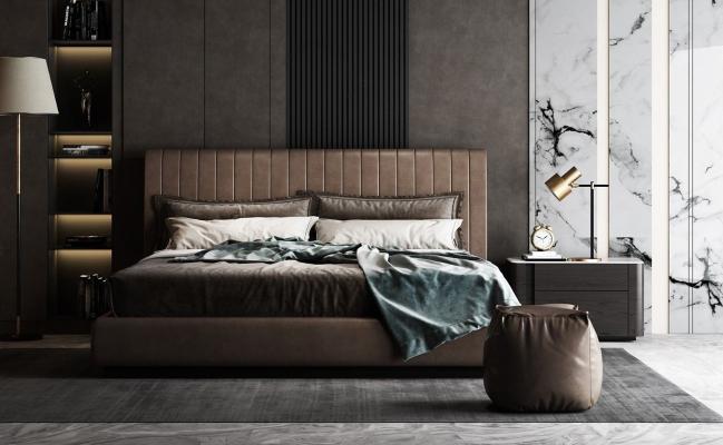 现代轻奢双人床