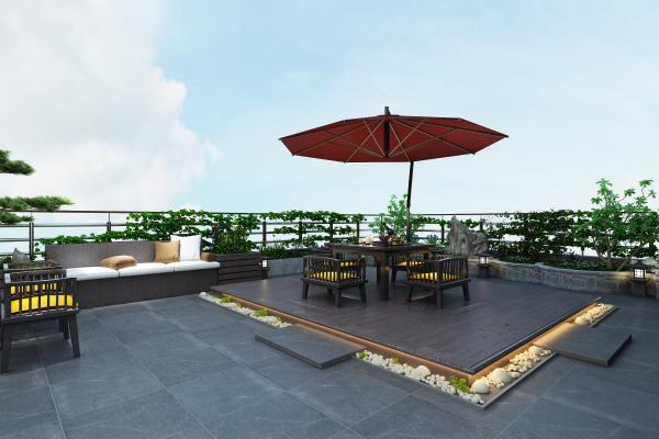 新中式庭院花园