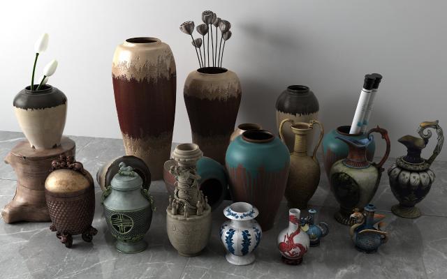 中式陶瓷花瓶