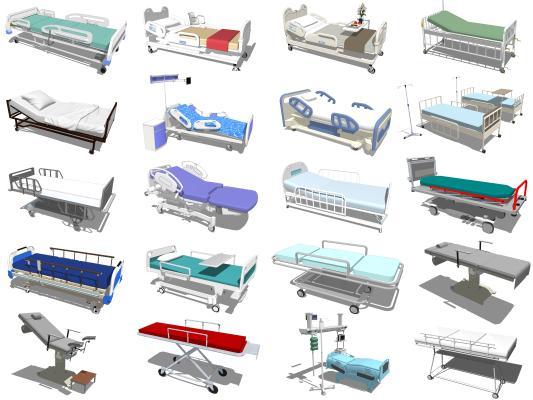现代病床 医疗床 医疗椅