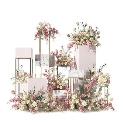 现代花艺 展架 花卉