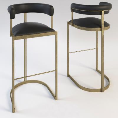 现代金属皮质吧椅