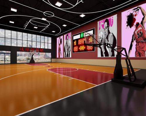 工业风格篮球场 换衣间 门头