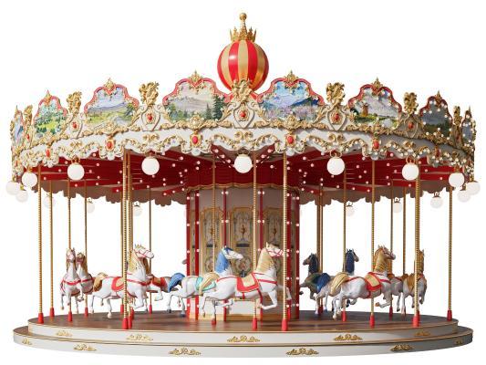 欧式旋转木马 游乐场 儿童