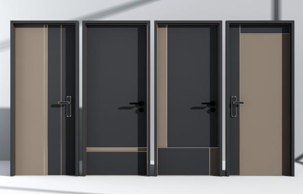 现代轻奢实木烤漆门