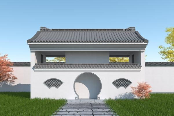 中式风格单体建筑 公厕
