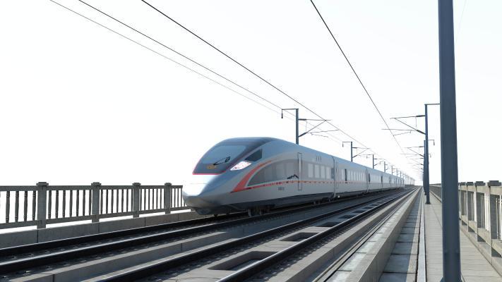 现代高铁动车 和谐号 复兴号