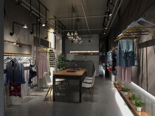 工业风格服装店面门头