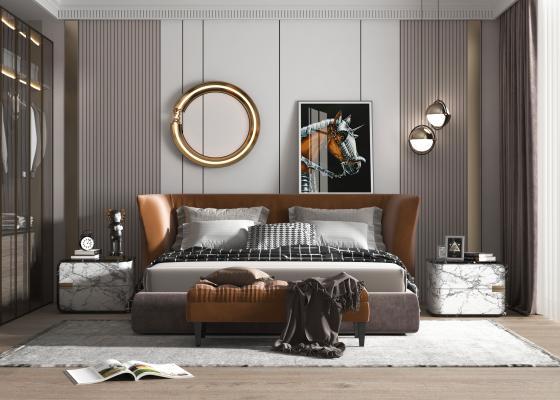 现代风格主卧室 父母房