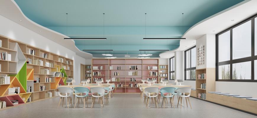 现代学校图书馆