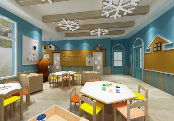 现代幼儿园 房子熊 儿童