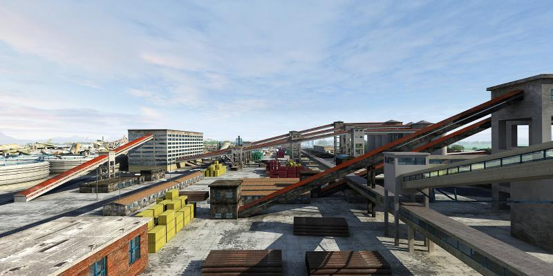 現代工業廠房 煤場 礦場