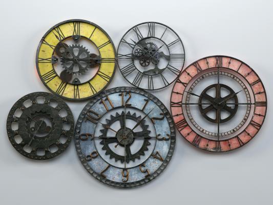 工业风格挂钟 墙饰 挂件