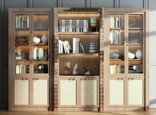 新中式书柜