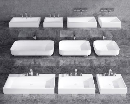 现代台盆 洗手台 洗手盆
