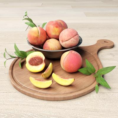 现代食物 桃子 菜板