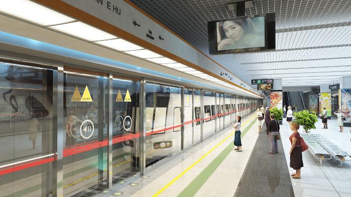 现代车站 地铁站 火车站