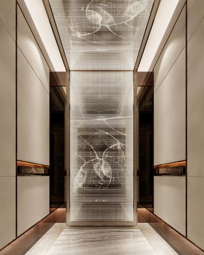 现代风格电梯轿厢