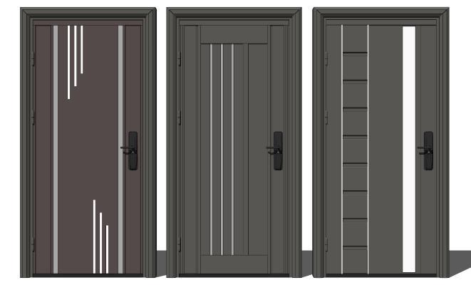 现代单开门 办公室门 入户门 烤漆门