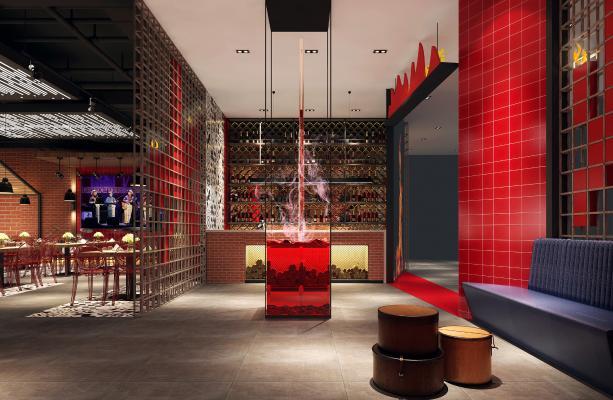 现代风格音乐餐厅 咖啡店