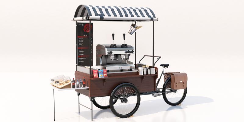 现代贩卖车 咖啡机